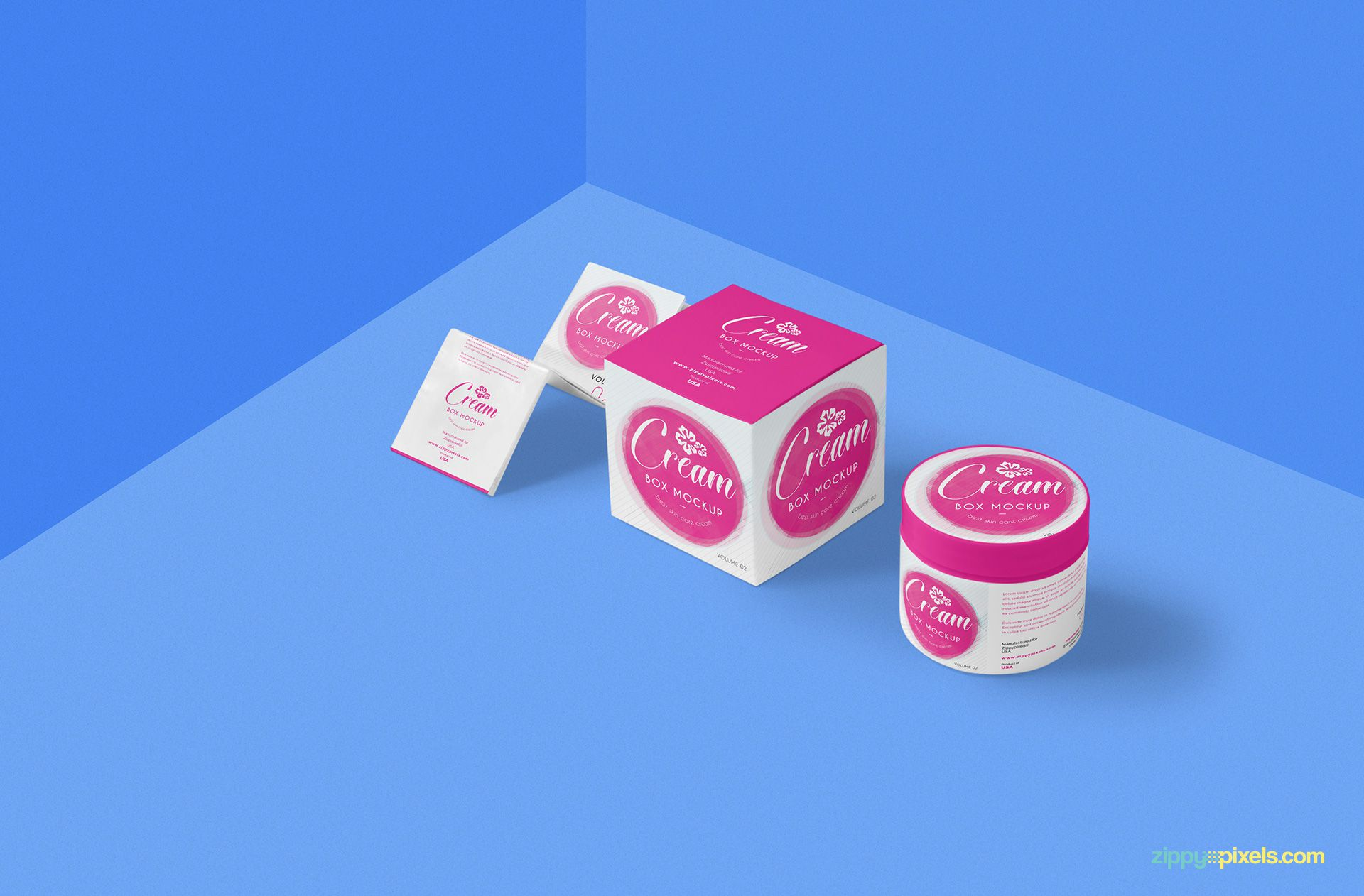 Pink Color Cream Packaging Box