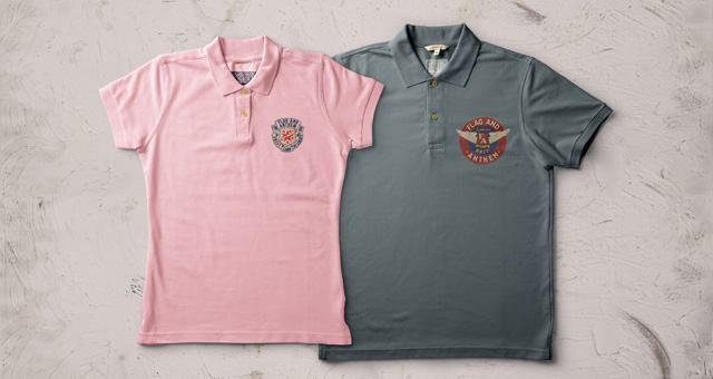 Polo T-shirt for both man and woman with two different color: