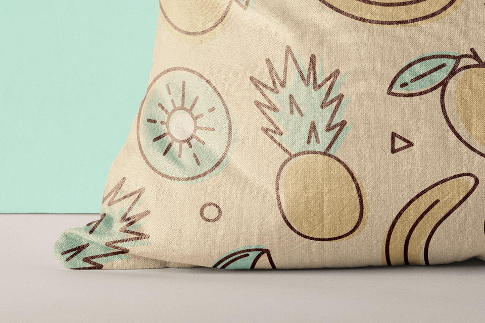 Printed Pillow Mockup Presentation