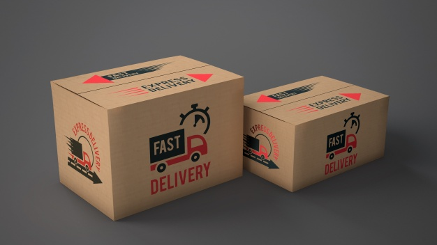 Product Delivery Box Mockup Illustration