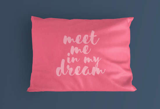 Quotes Mentioned Pillow Mockup PSD