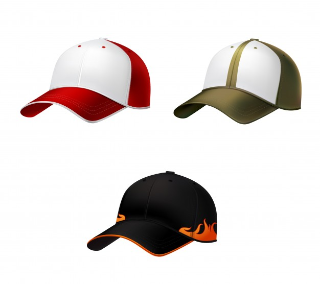Realistic Baseball Cap Vector.