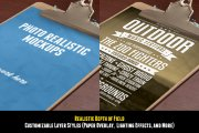 Realistic Clipboard Mockup PSD/strong