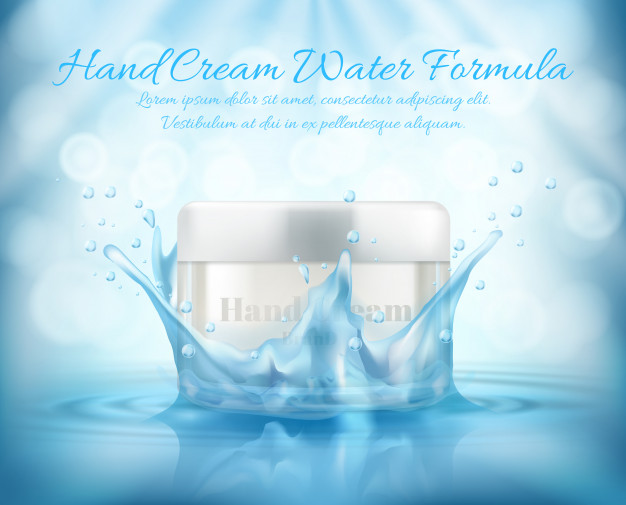 Realistic Hand Cream Water And Soap Box Vector File Illustration