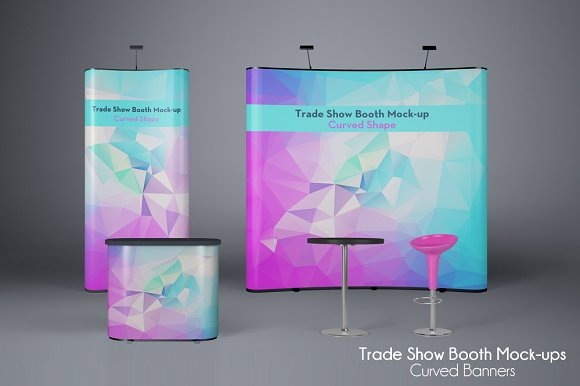 Realistic corporate Roll-Up PSD Mockup