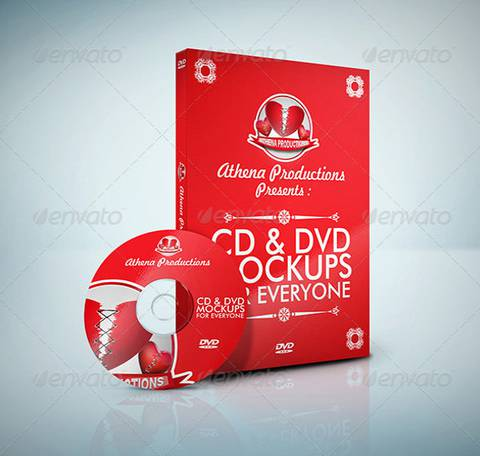 Red DVD Cover Illustration