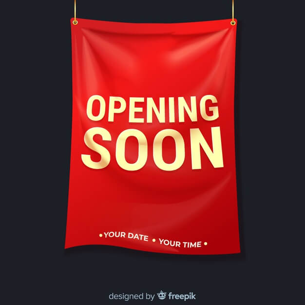 Red Vertical Hanging Banner Template