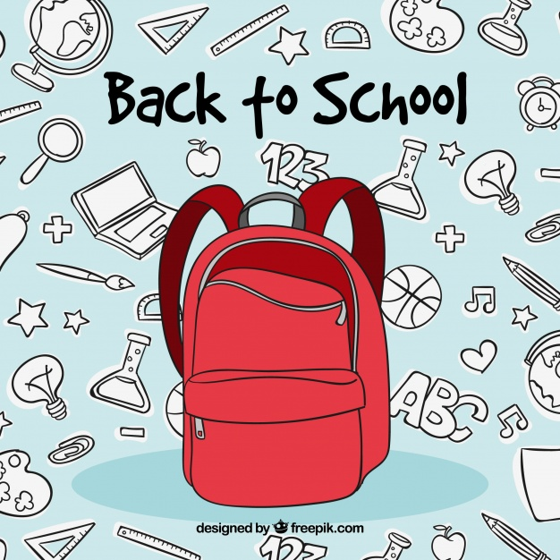 Red backpack Vector Format