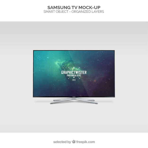 Samsung LED TV Mockup.