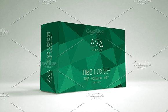 Sap Green Color Soap Packaging Box Mockup