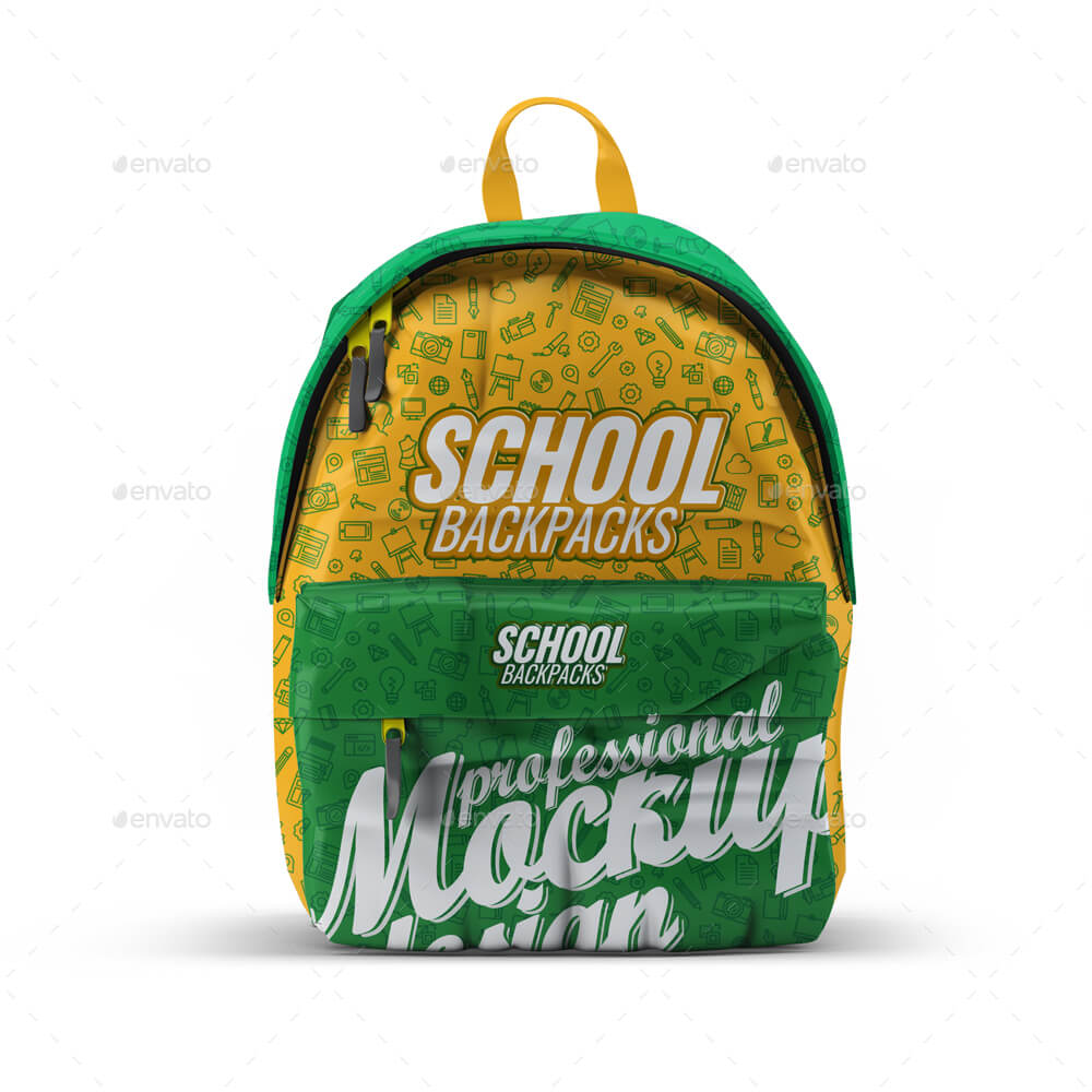 School Backpacks Mock-Up