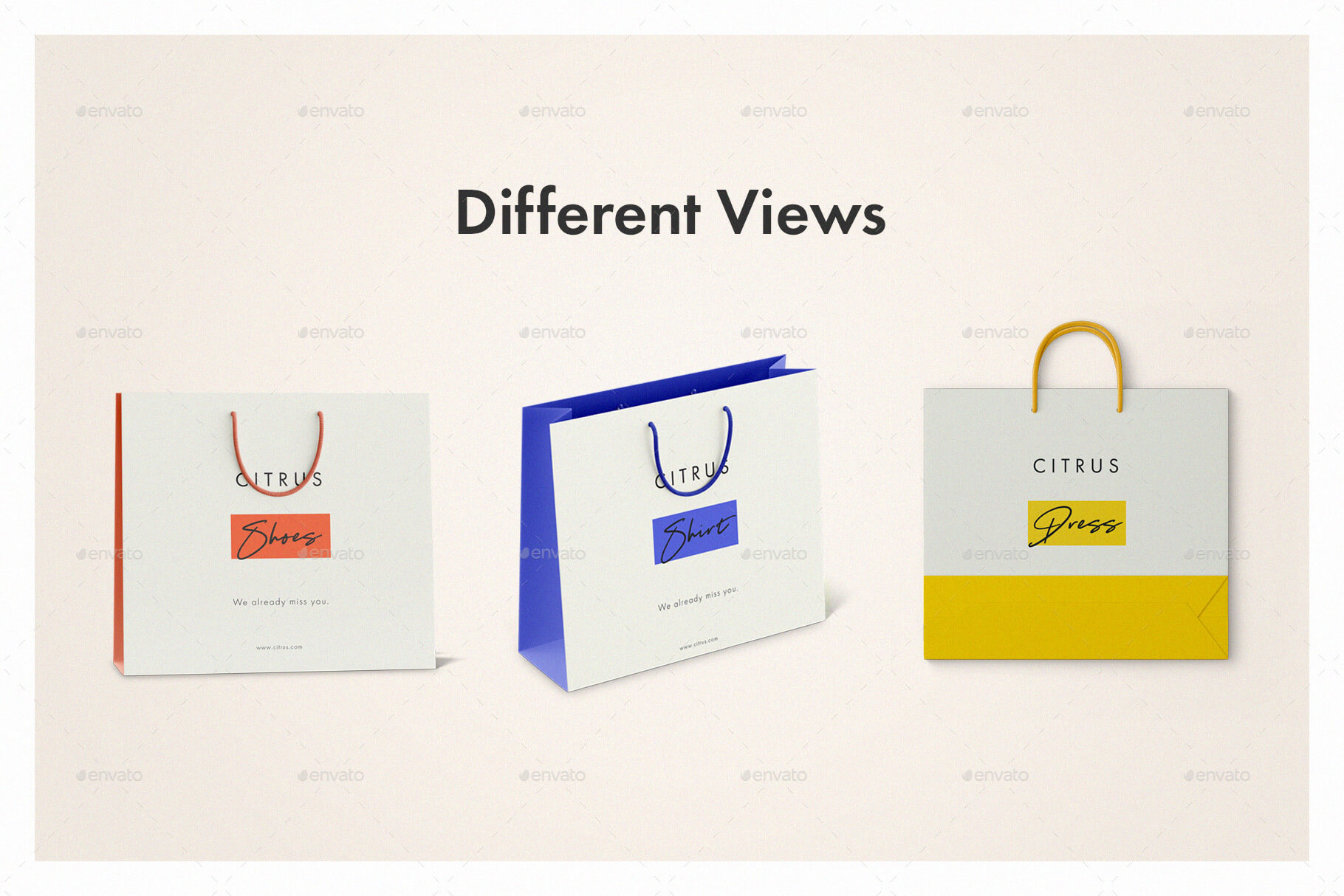 Shopping Bag Mockup Set