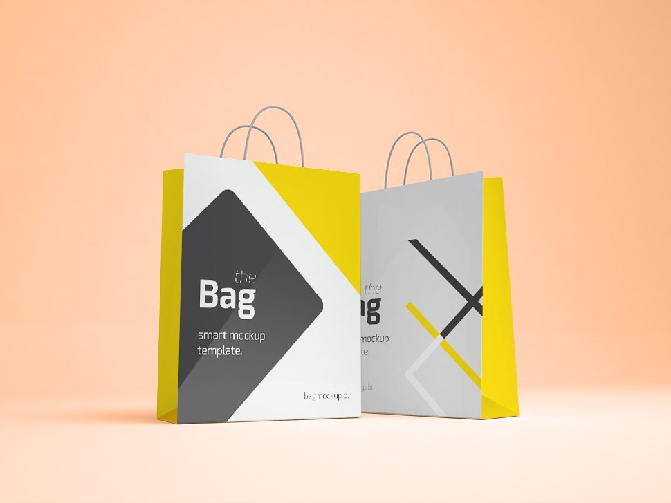 Smart Object PSD Shopping Bag Mockup