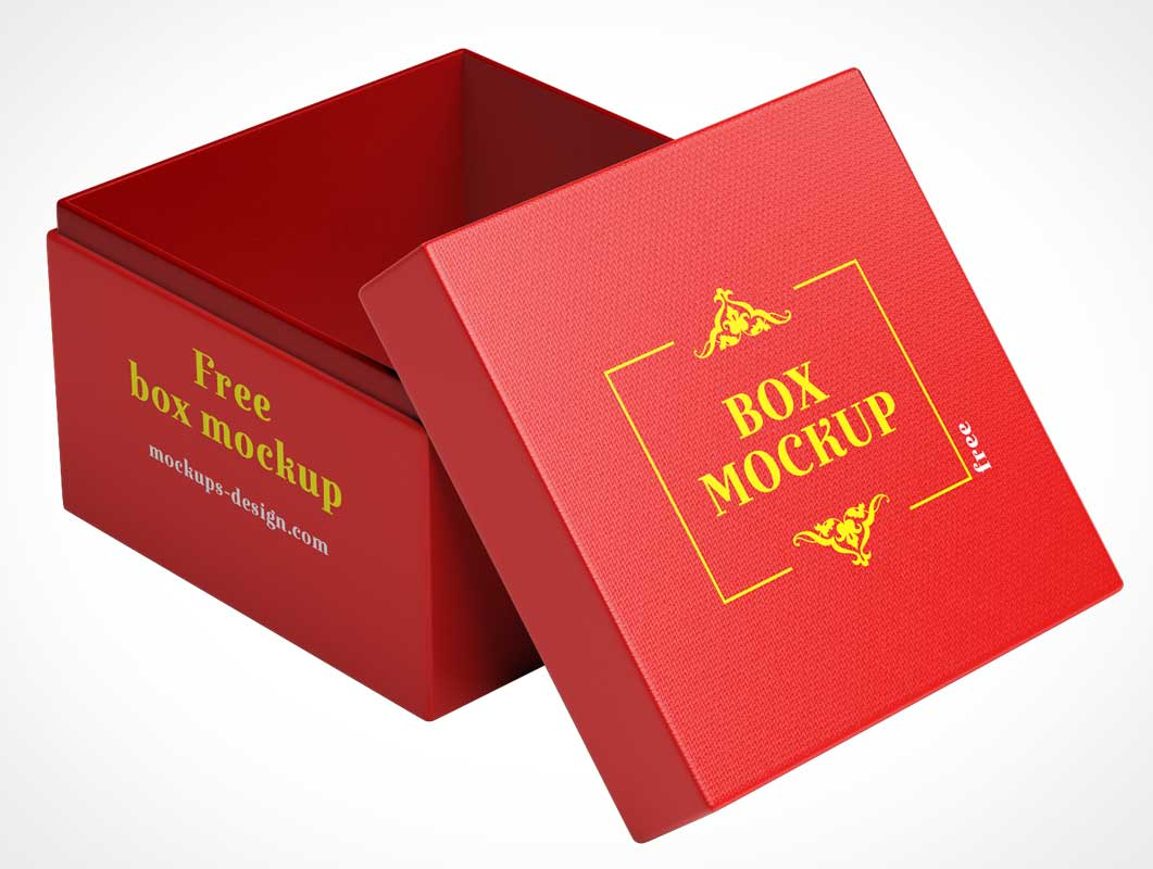 Smooth finishing Box Mockup Design Template