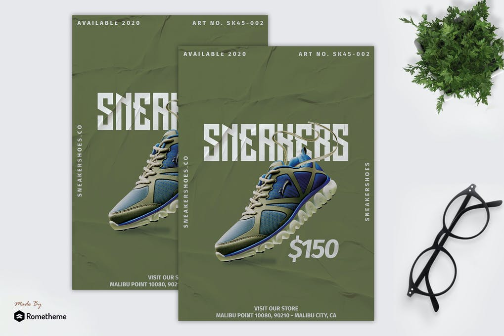 Sneaker Shoes - Product Promotion Flyer RB