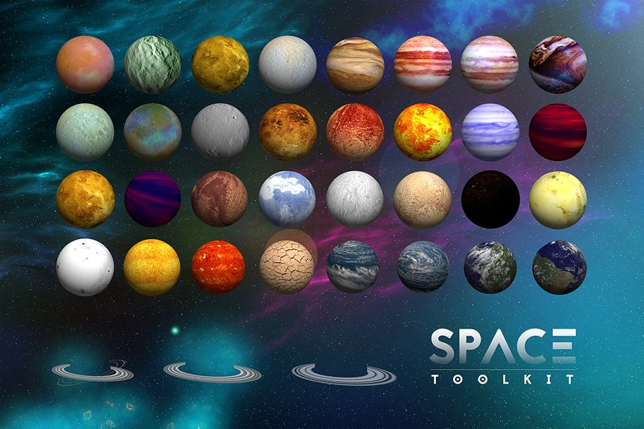 Space With Planet Toolkit PSD