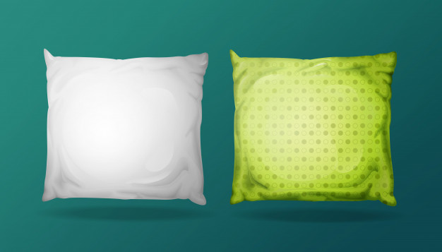 Square Light Green Color Pillow Vector Format