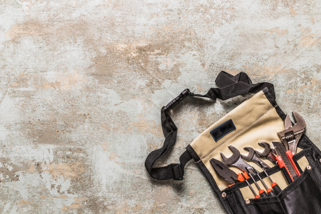 Toolkit Bag On Colorful Background Mockup
