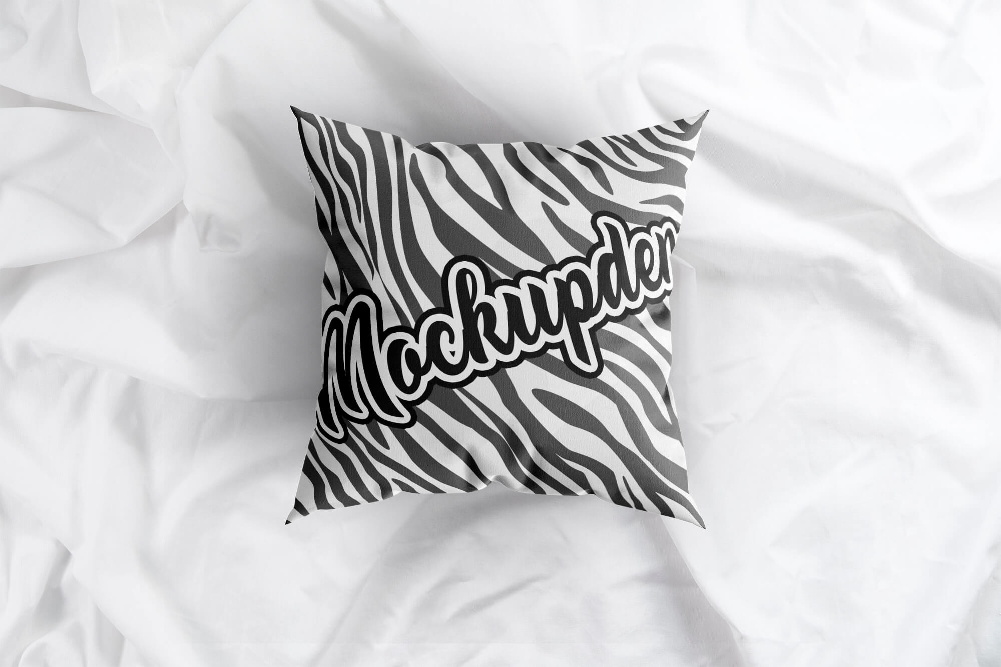 Free Top View Pillow Mockup PSD Template
