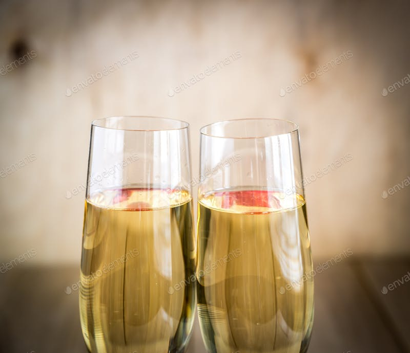 Two Champagne Glass PSD