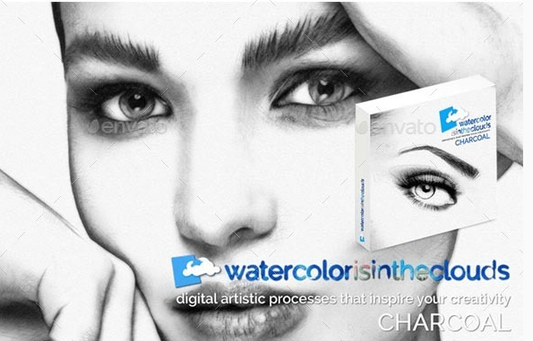 Water Color Art PSD Mockup