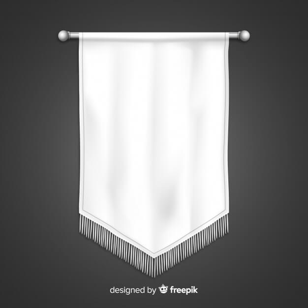 White Color Horizontal Hanging Banner
