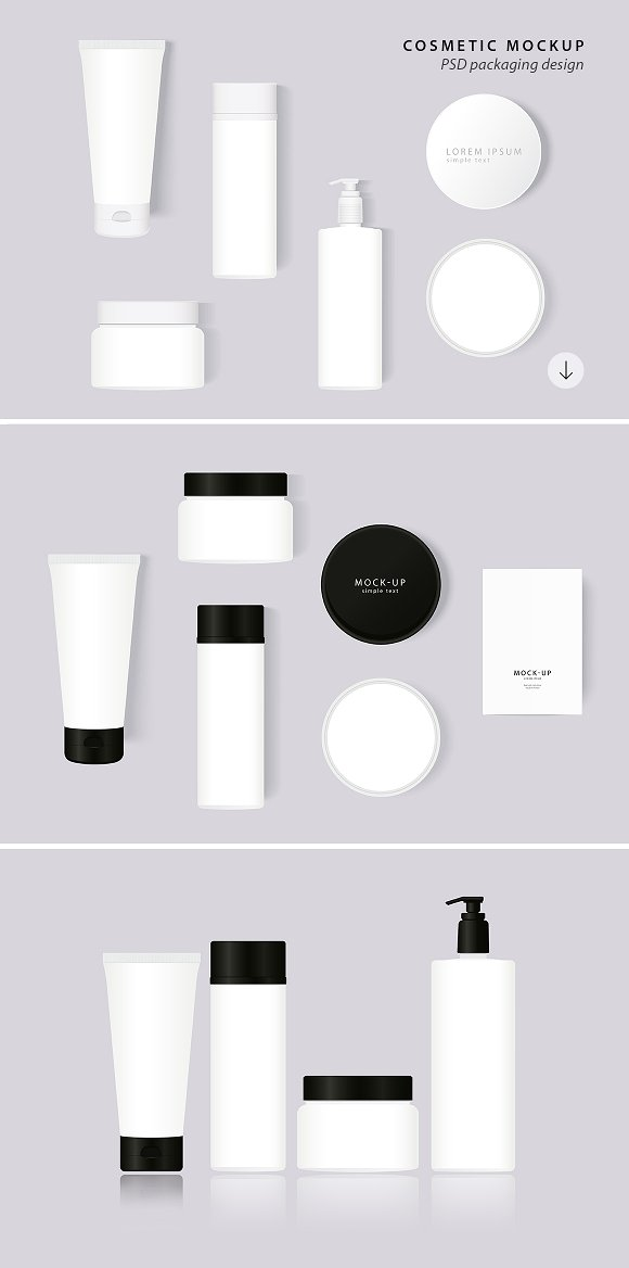 White Color Simple Cosmetic Illustration Free