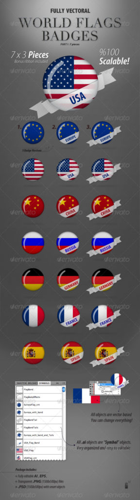 World Flag Badges