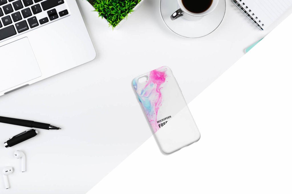 Free iPhone Case Mockup PSD Template