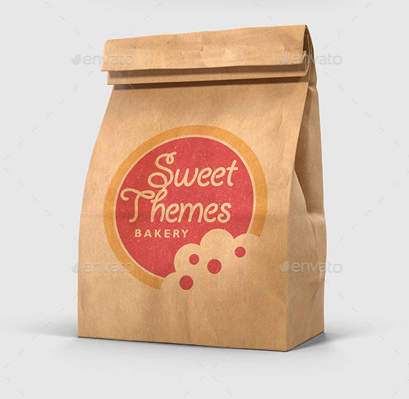 Brown Paper Lunch Bag Mockups - 3D Multi Views