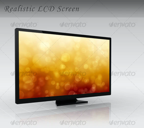 LCD TV / Monitor (+ Bokeh Background!)