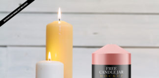 Candle Jar Mockup Free PSD Template