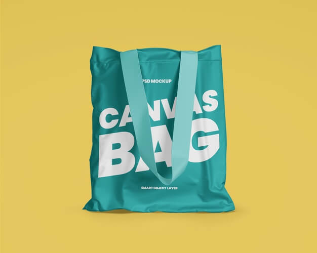 Canvas tote bag mockup Premium Psd