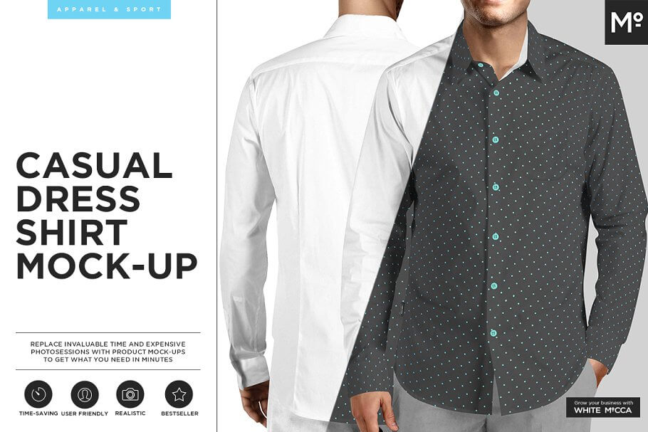 Casual Dress Shirt Mock-up