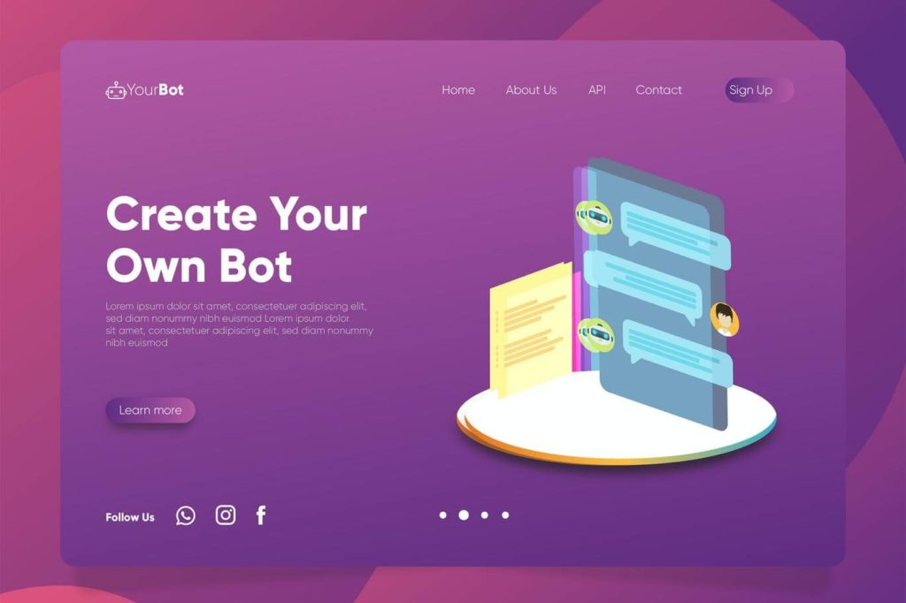 ChatBot - Banner & Landing Page