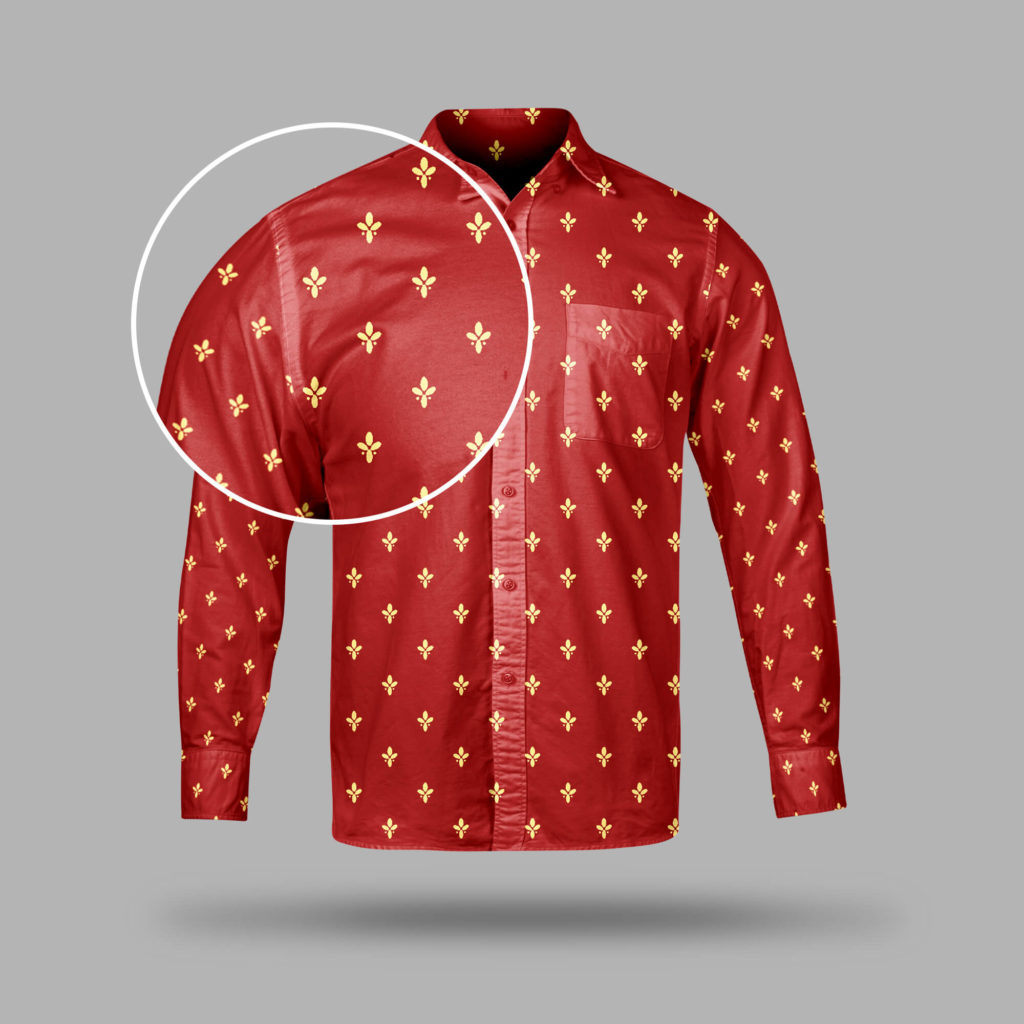 Close Up Of a Free Collar Shirt Mockup PSD Template