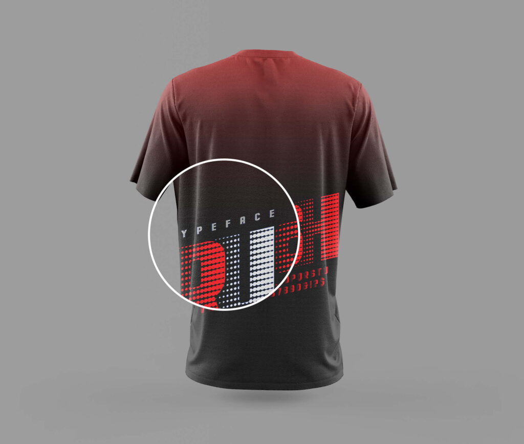 Close Up of a Free T Shirt Mockup Back PSD Template