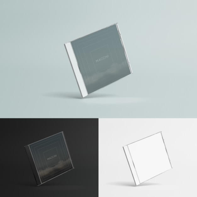 Compact disc case mock up Free Psd (1)