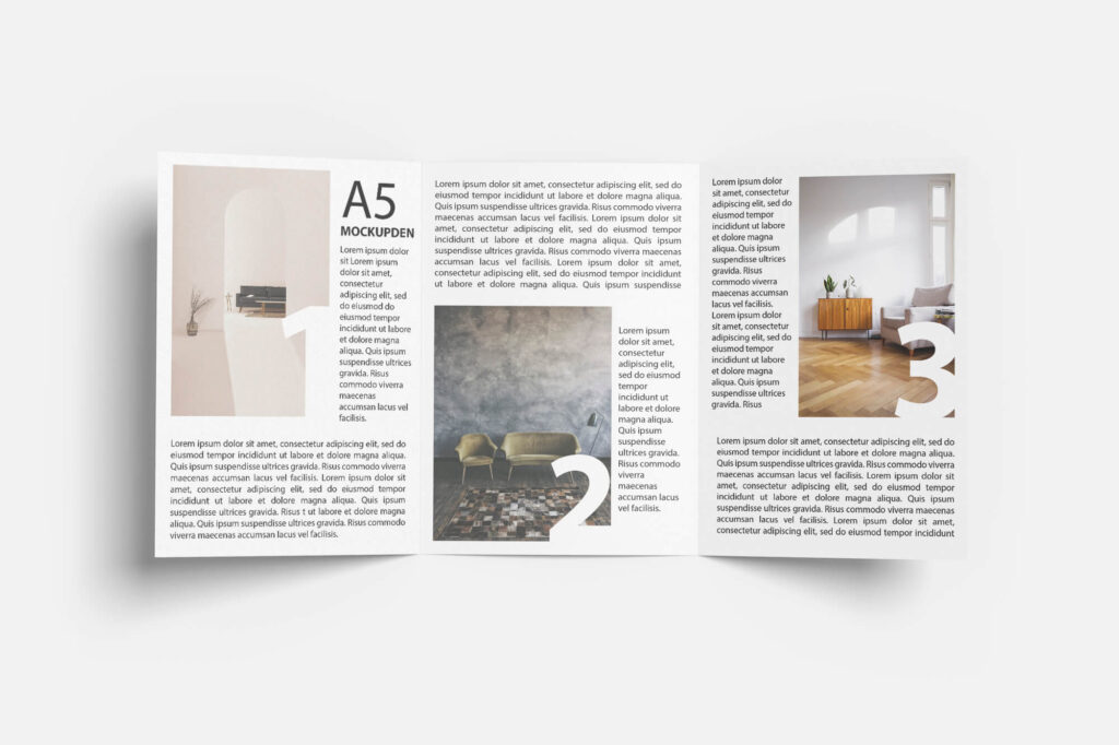 Design Free A5 Booklet Mockup PSD Template