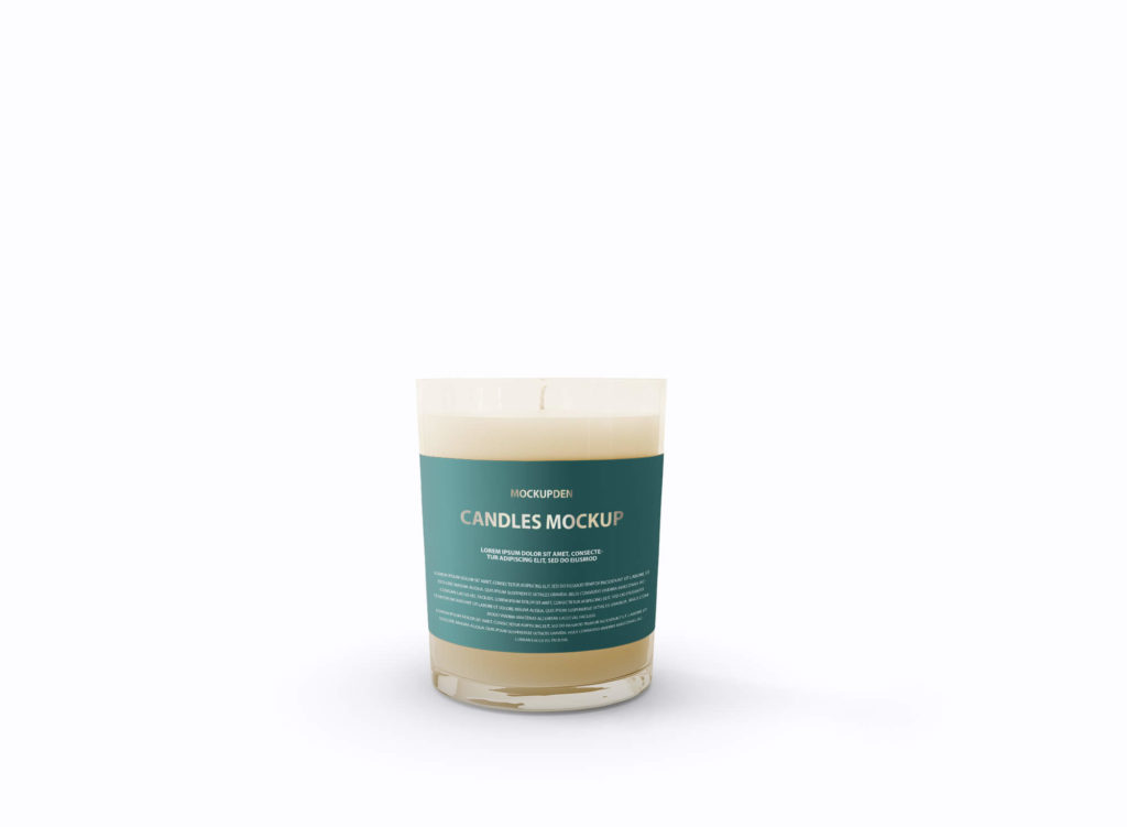 Design Free Candle Mockup PSD Template 2