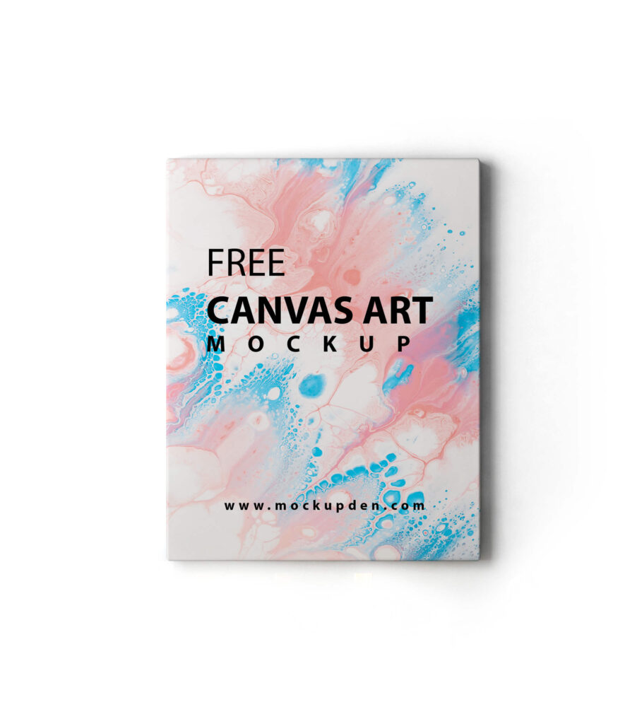Design Free Canvas Art Mockup PSD Template