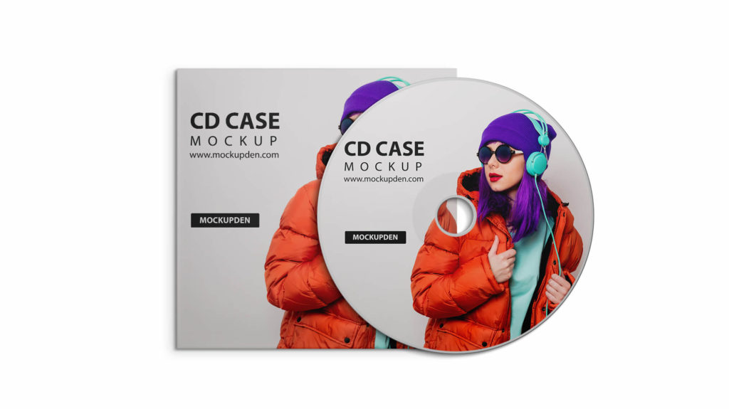 Design Free Cd Case Mockup PSD Template