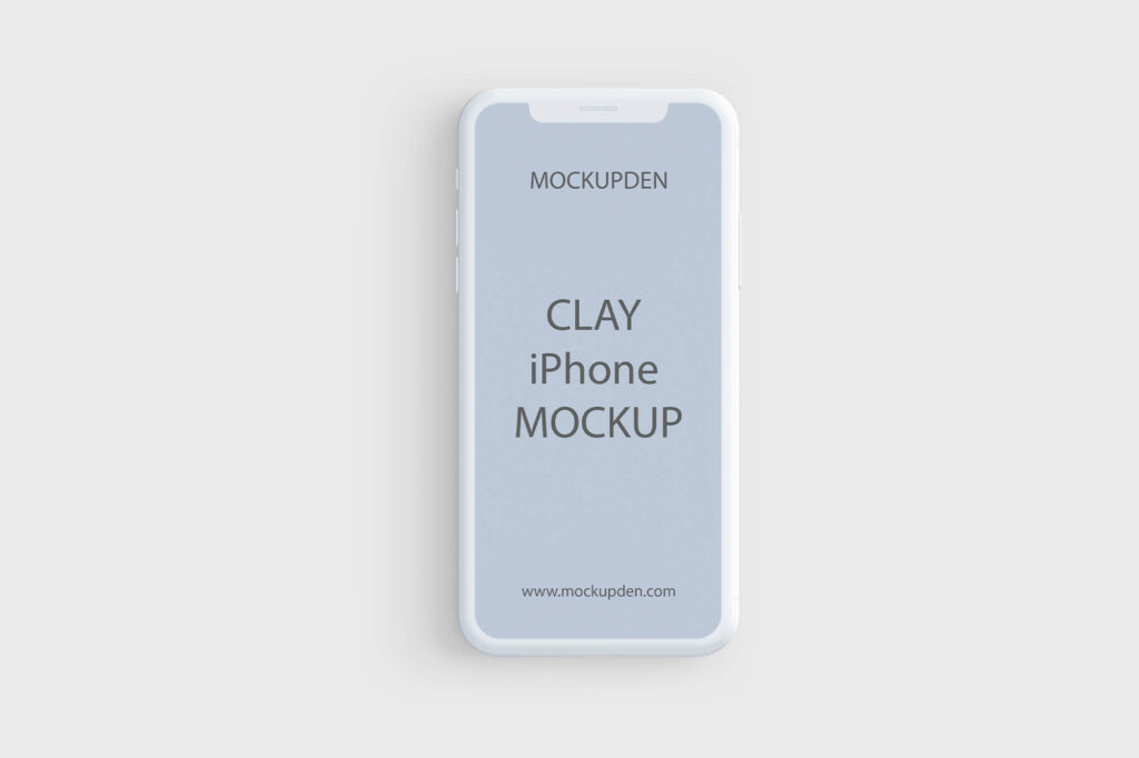 Design Free Clay iphone Mockup PSD Template