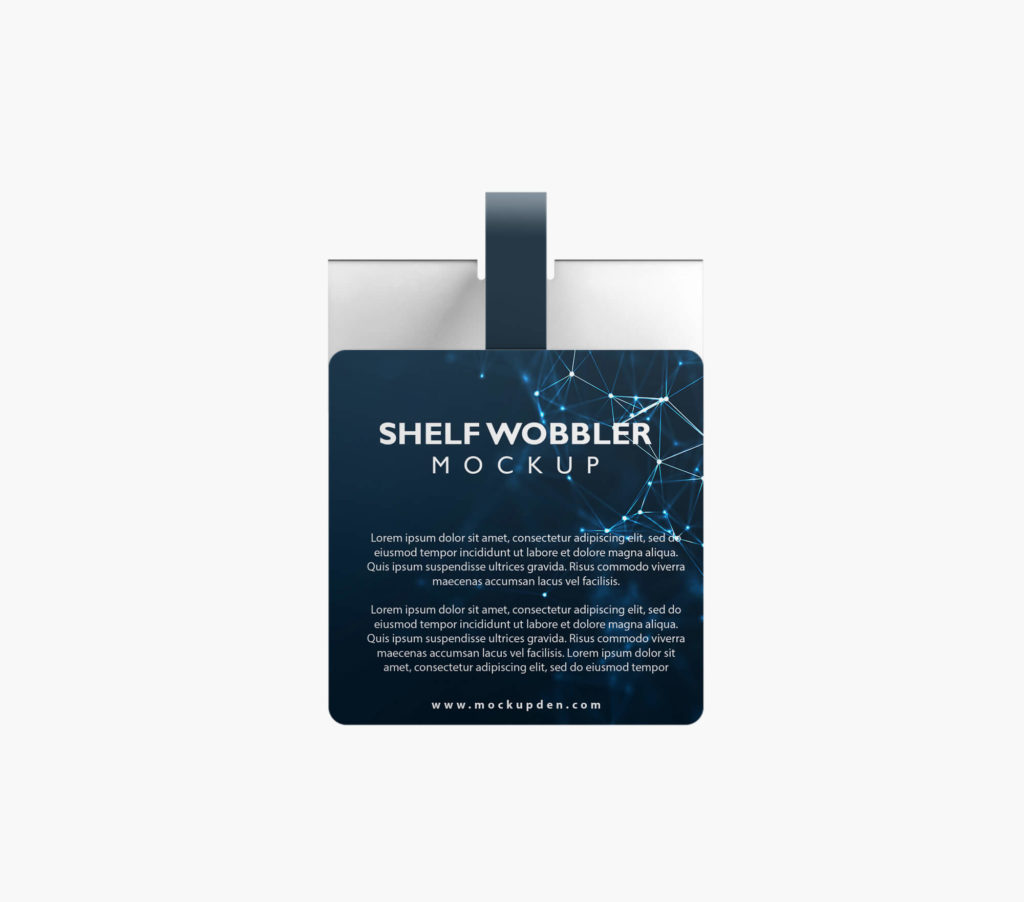 Design Free Shelf Wobbler Mockup PSD Template