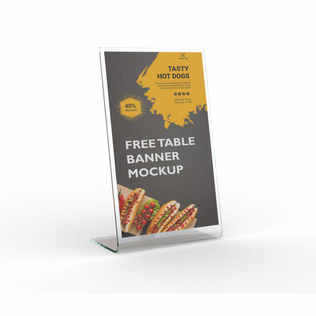Design Free Table Banner Mockup PSd Template
