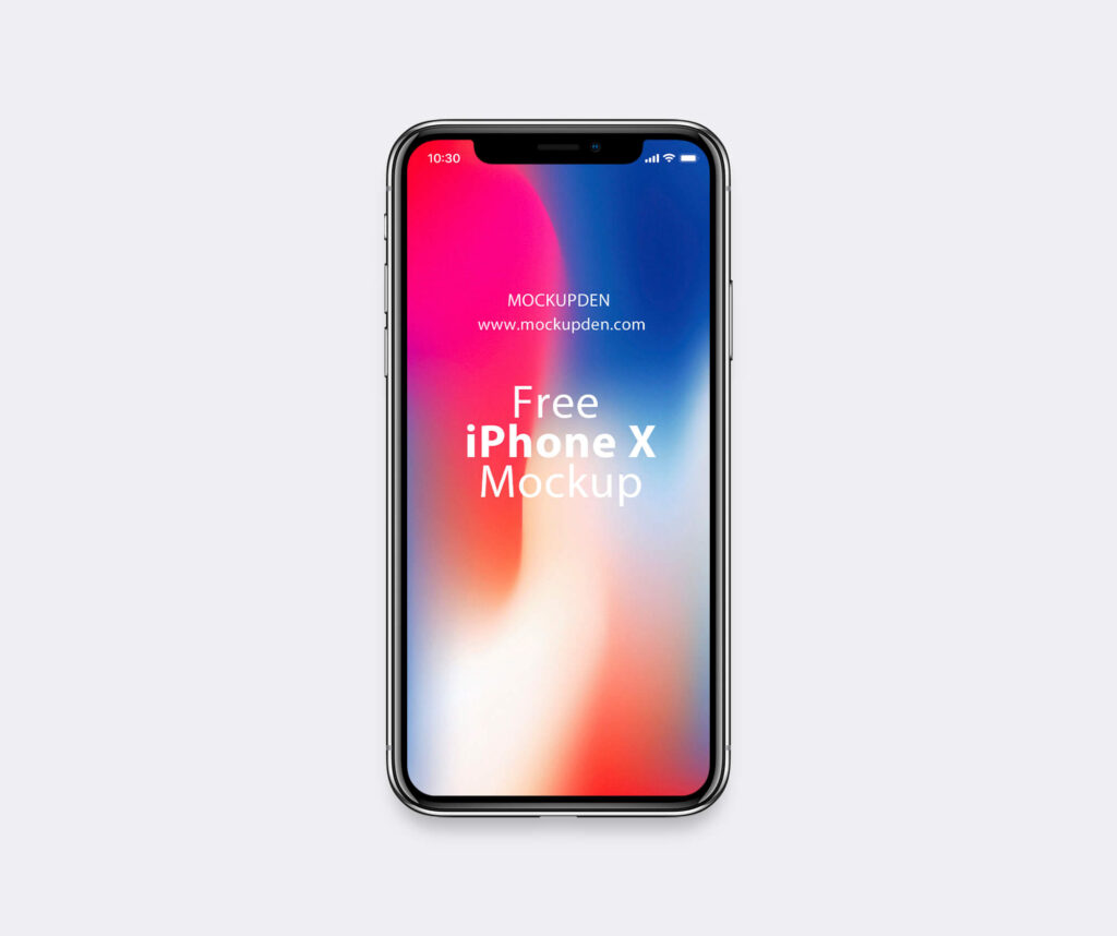 Design Free iPhone X Mockup PSD Template