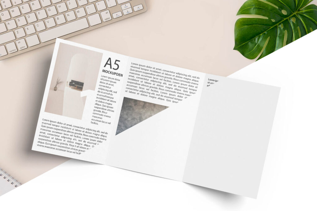 Editable Free A5 Booklet Mockup PSD Template