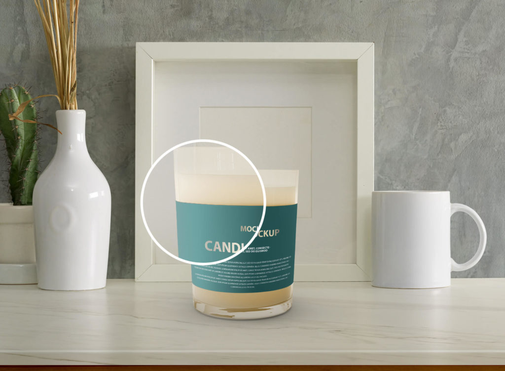 Editable Free Candle Mockup PSD Template 2
