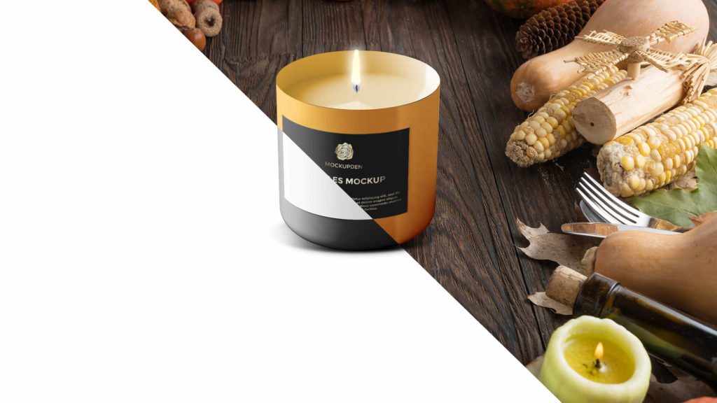 Editable Free Candles Mockup PSd Template