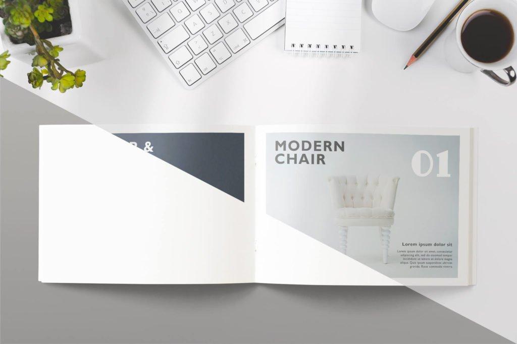Editable Free Catalog Mockup PSD Template 2